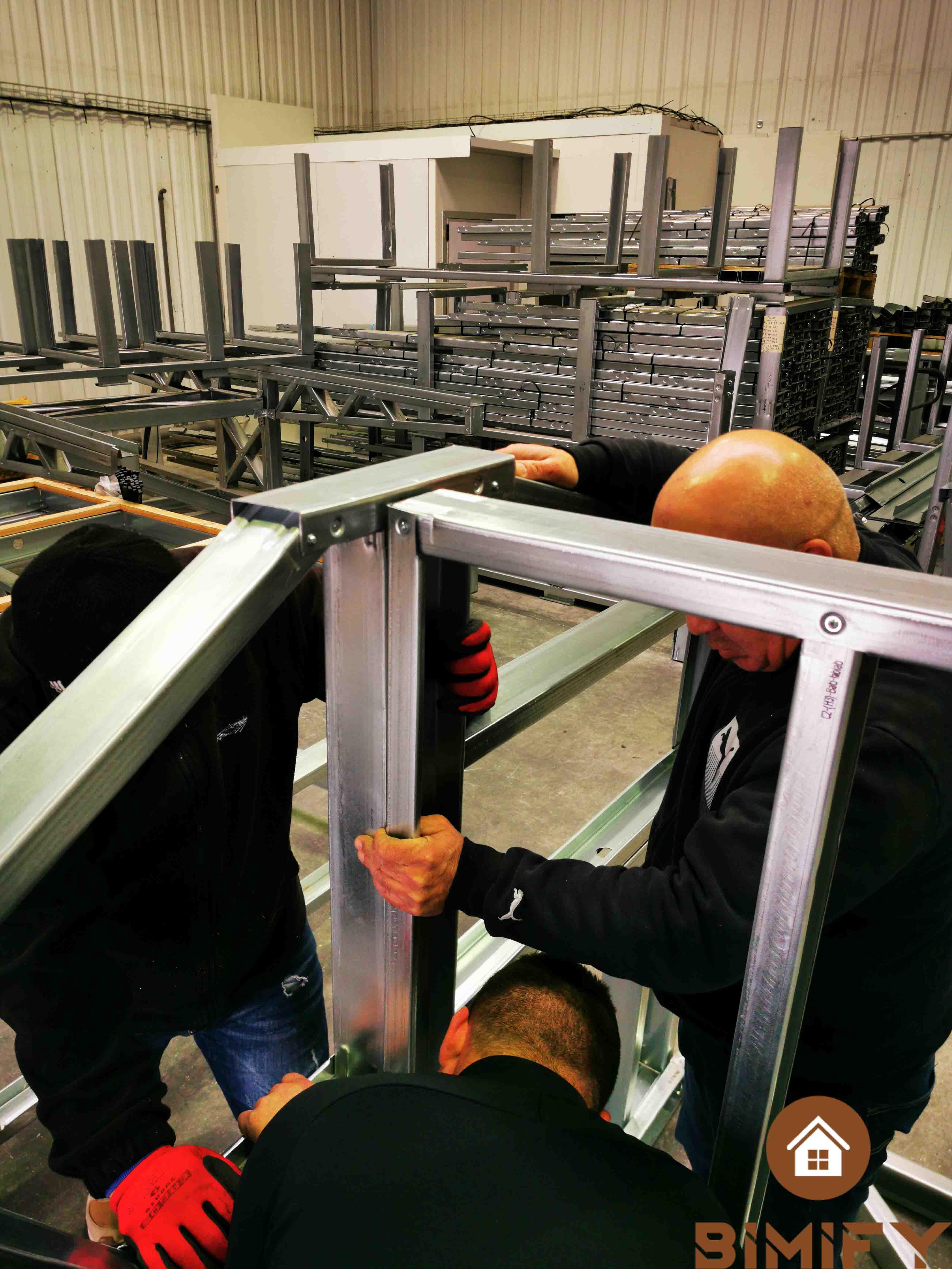 Manufacturer metal frame and lightweight steel frame