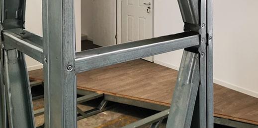Light steel metal frame
