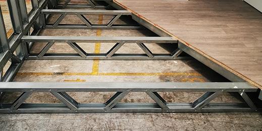 Lightweight steel floor joists