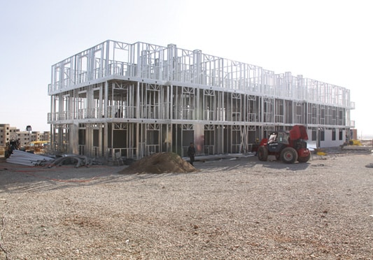 Struttura in metallo in acciaio leggero per un edificio collettivo