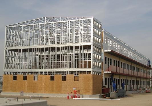 edificio terziario in struttura metallica