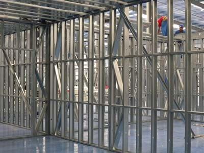telaio metallico formato a freddo in acciaio galvanizzato